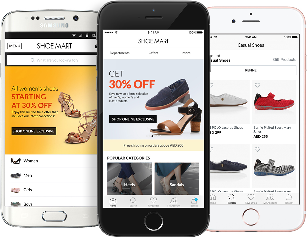 Shop on-the-go with our easy iPhone, & Android